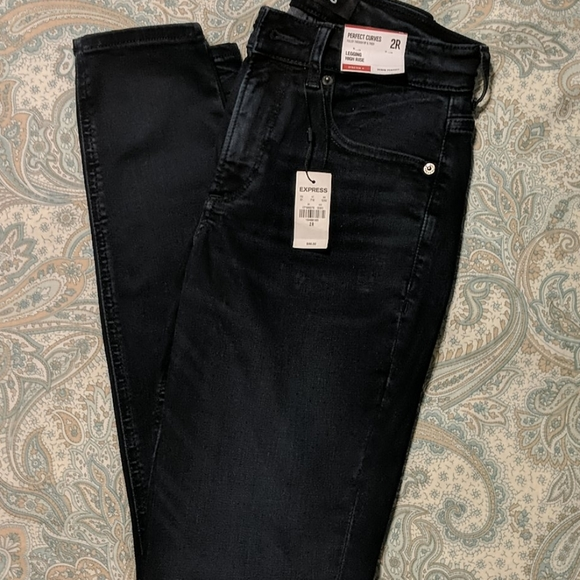 Express Perfect Curves High Rise Skinny Jeans
